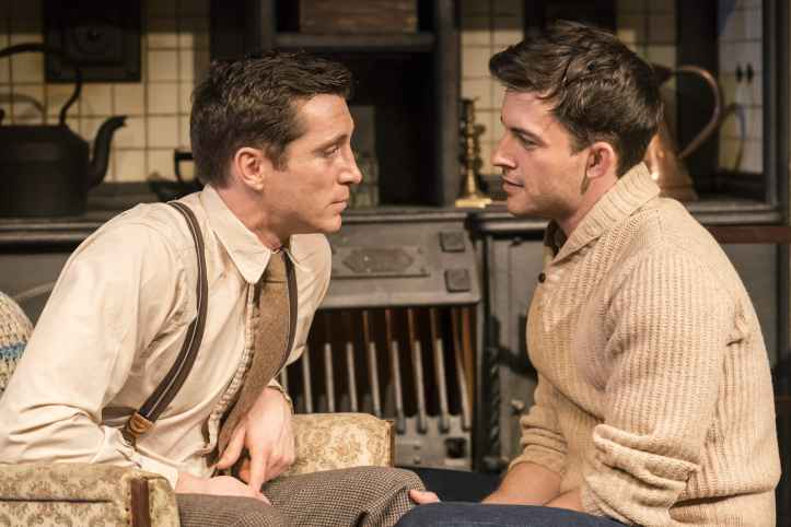 Ben Batt as George and Jonathan Bailey as John in The York Realist. Photo by Johan Persson.-min